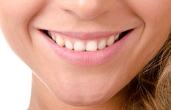 Woman smiling close-up Stock Photography