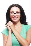 Woman smiling eyeglasses Stock Photos