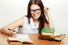 Woman smiling eyeglasses Stock Photography