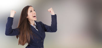 Woman smiling happily Royalty Free Stock Photos
