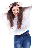 Woman smiling and having fun Royalty Free Stock Photo