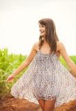 Woman Smiling, Laughing, Fashion Lifestyle Stock Photos