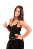 Woman smiling and showing Thumbs up Royalty Free Stock Photo