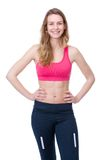 Woman smiling in sports outfit Royalty Free Stock Photo
