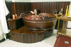 Woman Smiling in Tub - Horizontal Stock Images