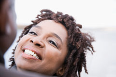 A woman smiling Royalty Free Stock Photo