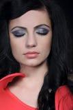 Woman smokey eyes Royalty Free Stock Photography