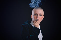 Woman smoking Stock Photos