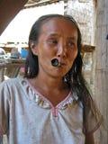 Woman Smoking Royalty Free Stock Photography