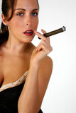 Woman Smoking Cigar Royalty Free Stock Photos