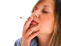 Woman smoking cigarette Royalty Free Stock Photography