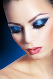 Woman smoky make-up Stock Photography