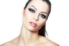 Woman smoky make-up Royalty Free Stock Photo