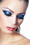 Woman smoky make-up Royalty Free Stock Photography