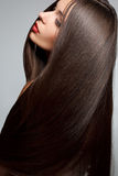 Woman with smooth hair. High quality image. Stock Photos
