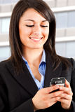 Woman sms Royalty Free Stock Photos