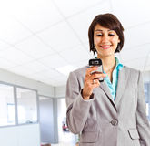 Woman sms Stock Photography