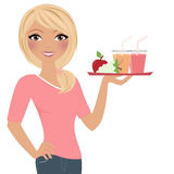 Woman snack tray Stock Photography