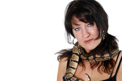Woman with Snake Stock Images