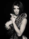 Woman with a snake Royalty Free Stock Photo