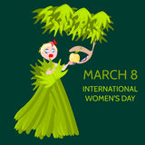 Woman with snake - International womens day Stock Photo