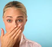 Woman Sneezing Royalty Free Stock Images