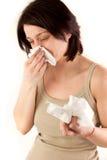Woman sneezing Royalty Free Stock Photo