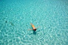 Woman snorkeling Royalty Free Stock Photo