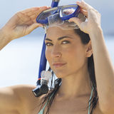 A woman snorkeling Royalty Free Stock Photography