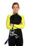 Woman in Snorkeling Gear Stock Image