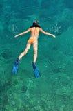 Woman snorkeling at Phi Phi Island, Phuket, Thailand Stock Images
