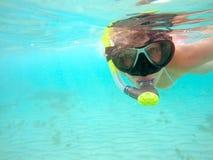 Woman snorkeling Stock Photography