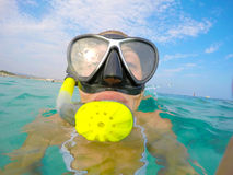 Woman snorkeling Royalty Free Stock Photos
