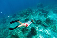 Woman snorkeling Royalty Free Stock Image