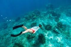 Woman snorkeling Royalty Free Stock Image