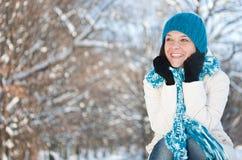 Woman in snow Stock Photos