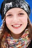 Woman and snow Stock Photos