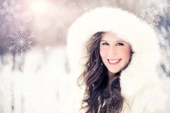 Woman, Snow, Winter, Portrait Royalty Free Stock Photo