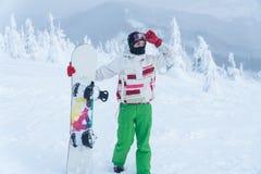 Woman snowboard. snowboarder. winter snow snowboard royalty free stock photo