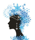 Woman with snowflakes Stock Photography