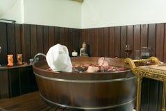 Woman Soaking in Tub - Horizontal Royalty Free Stock Photography