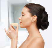 Woman with soap Stock Image