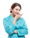 Woman with soap Stock Photo