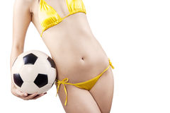 Woman with soccer ball Royalty Free Stock Photo
