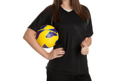 Woman soccer player Stock Photography