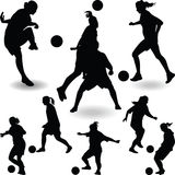 Woman soccer player Royalty Free Stock Photo