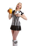 Woman in soccer referee clothes Royalty Free Stock Photography
