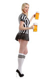 Woman in soccer referee clothes Stock Photography