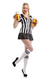 Woman in soccer referee clothes Royalty Free Stock Images