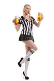 Woman in soccer referee clothes Stock Image